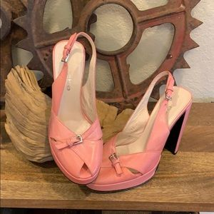 Bebe pink heels size 6 1/2
